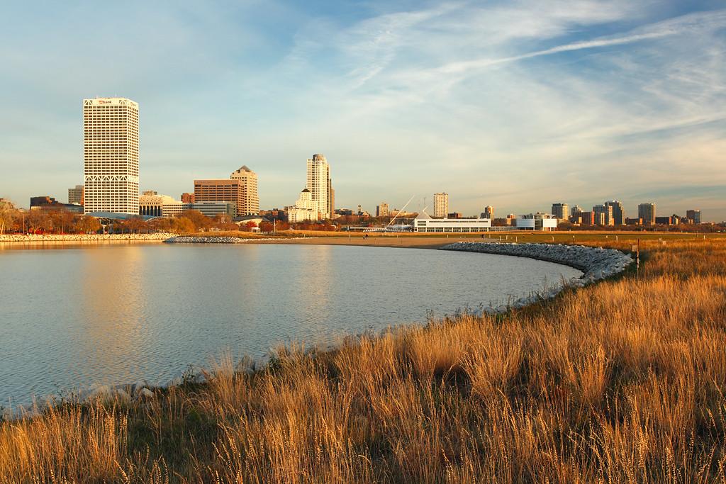 Milwaukee Skyline from Lake Shore State Park - Milwaukee, WI