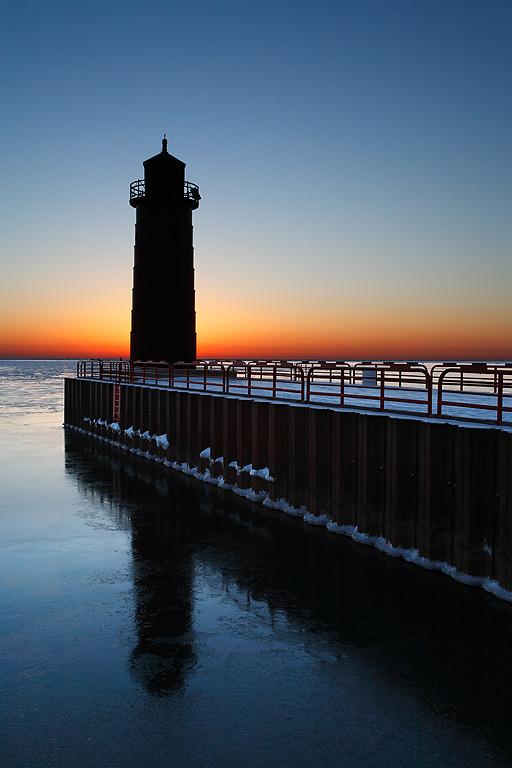 First Light - Milwaukee Pierhead Lighthouse - Milwaukee, WI
