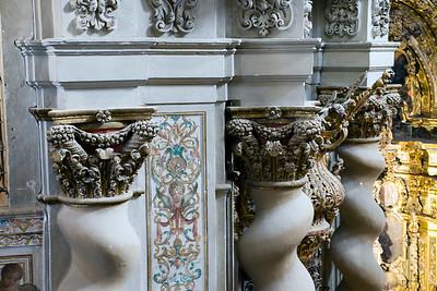 Twisted columns detail, San Luis de los Franceses church, Seville, Spain