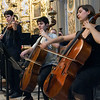 String ensemble performing in San Luis de los Franceses church, Seville, Spain