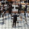 Classical music ensemble performing in San Luis de los Franceses church, Seville, Spain