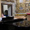 Musician playing a piano, San Luis de los Franceses church, Seville, Spain