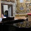 Musician playing a piano, San Luis de los Franceses church, Seville, Spain