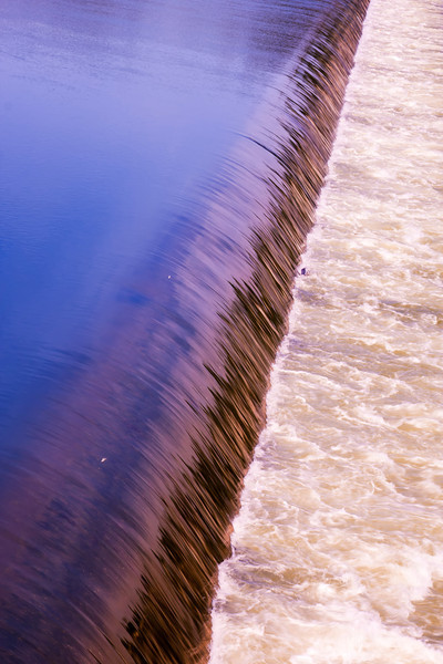 Water Flowing over Weir