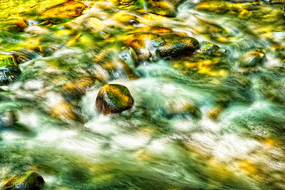 Peaceful Stream in Green and Yellow