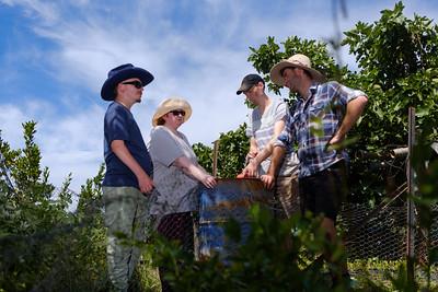 Farm Work Crew having a Discussion