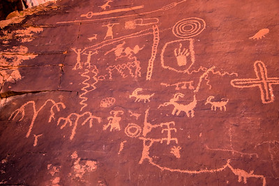 The Valley of Fire Petroglyphs on Atlatl Rock