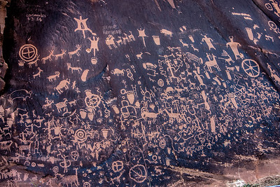 Native American Petroglyphs, Newspaper Rock, Utah