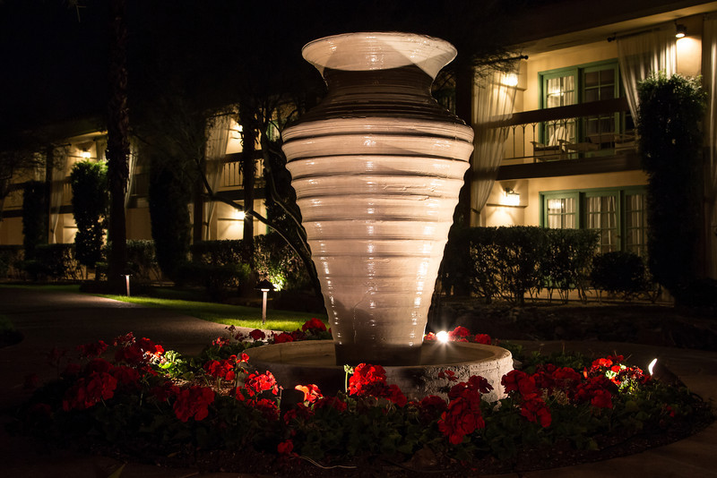 Large Vase at Night