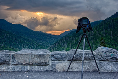 Capturing the view of the Great Smoky Mountains
