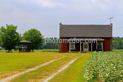 Small Red Farm House