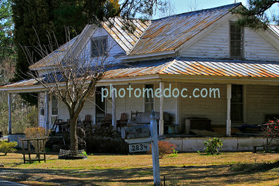 White Country House with Tin Roof