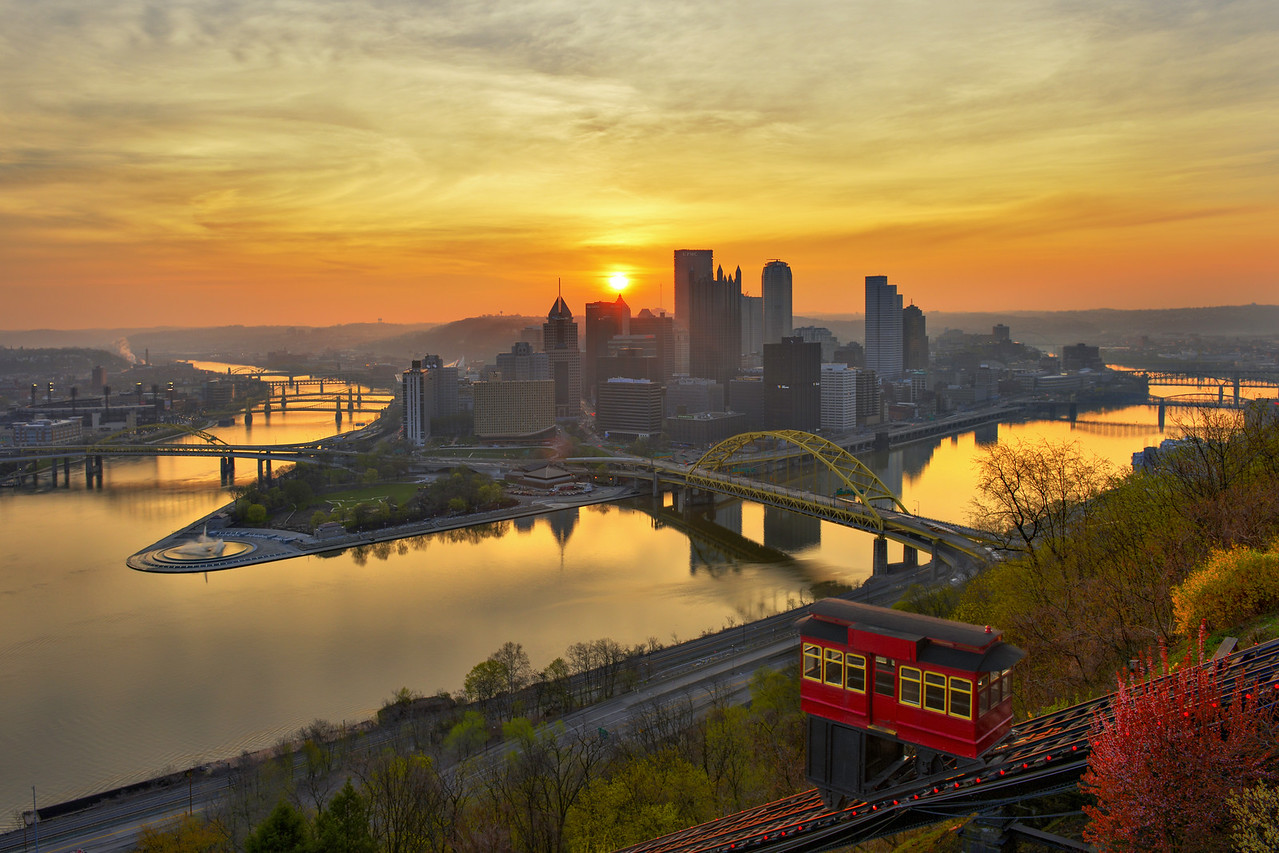 """DAWN OF A NEW DAY"" - Pittsburgh, Mt. Washington   Recommended Print sizes*:  4x6  