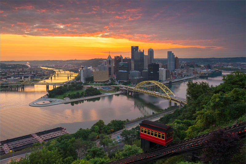 """Summer Sunrise"" - Pittsburgh, Mount Washington   Recommended Print sizes*:  4x6  