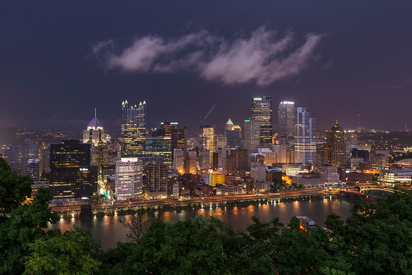 """Front Lightning"" - Pittsburgh, Mount Washington   Recommended Print sizes*:  4x6  