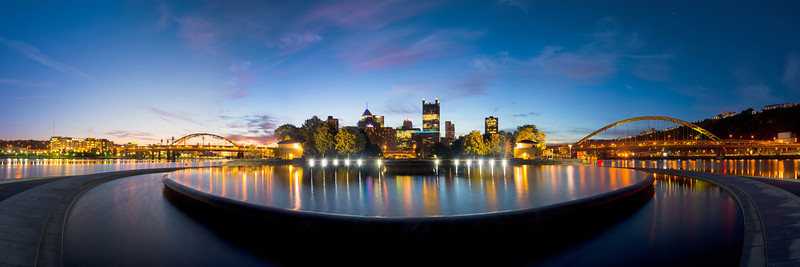 """""""Awaiting the Rise"""" - Pittsburgh, Point Park   Recommended Print sizes*:  5x15  