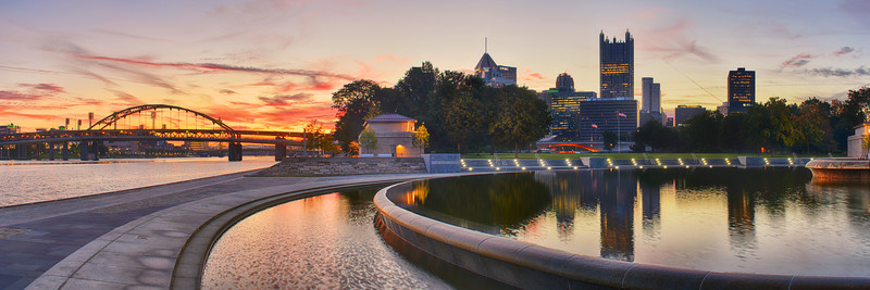 """""""Vortex of Serenity"""" - Pittsburgh, Point Park   Recommended Print sizes*:  5x15  