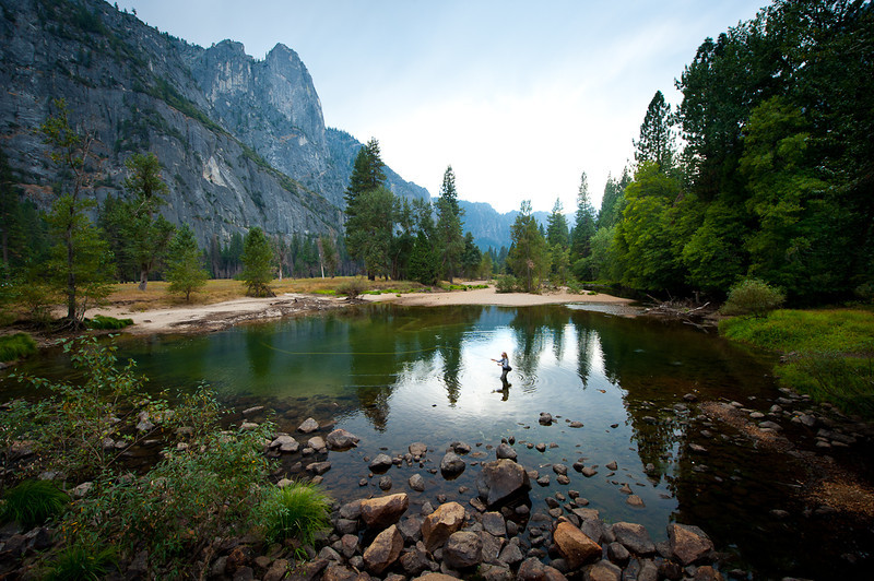 Jenny Grossenbacher on the Merced River, Yosemite National Park