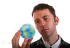 Young Man Ponders How to Save the Planet