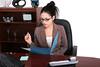 Young Hispanic Female Professional at Work