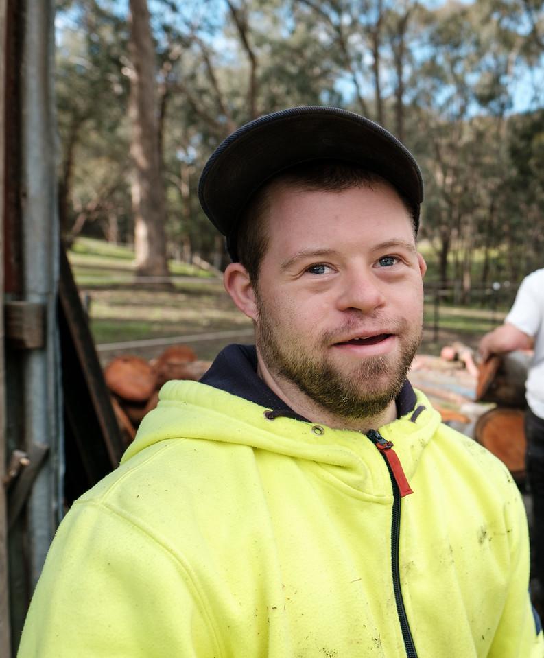 Man in his Twenties on a Farm