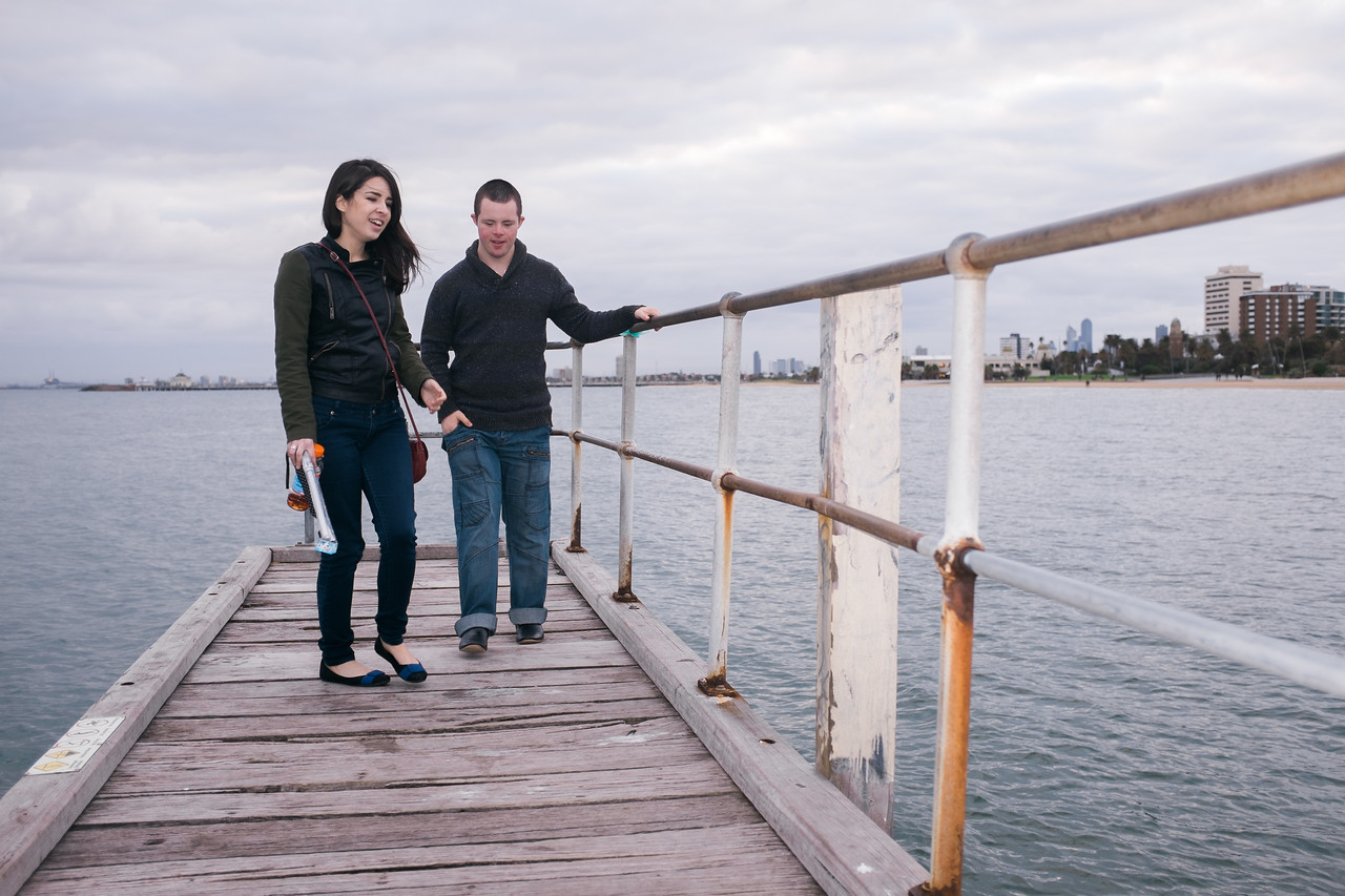Man and Woman on a Pier in St Kilda