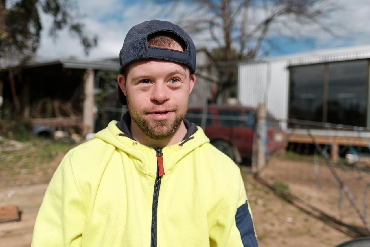 Young Man at a Farm