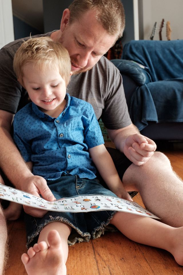 Dad Teaching his Boy