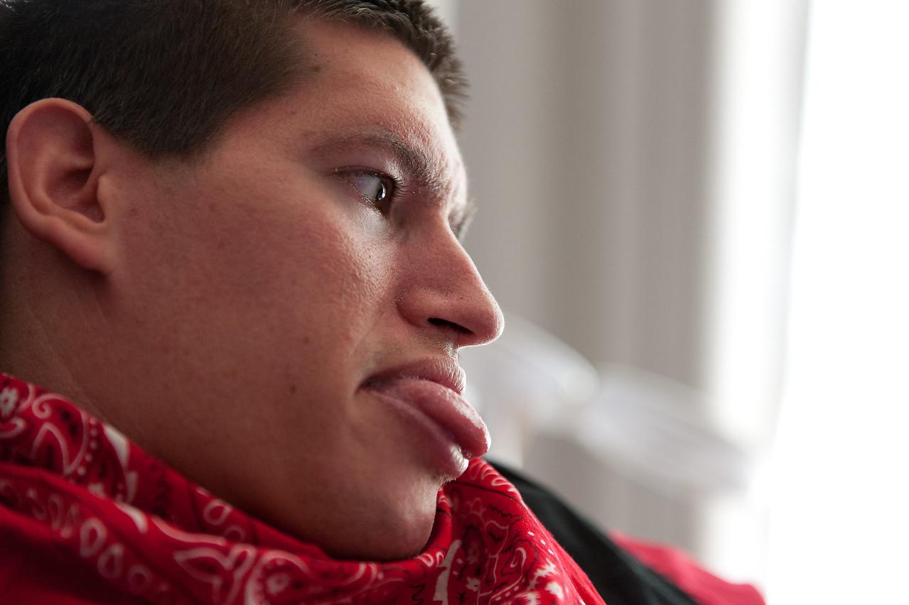 Profile of a twenty-six-year-old man