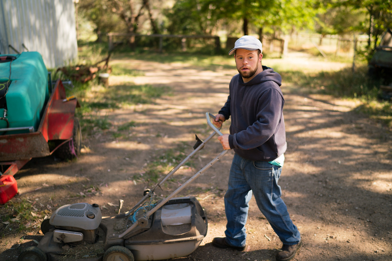 Young Man with a Mower