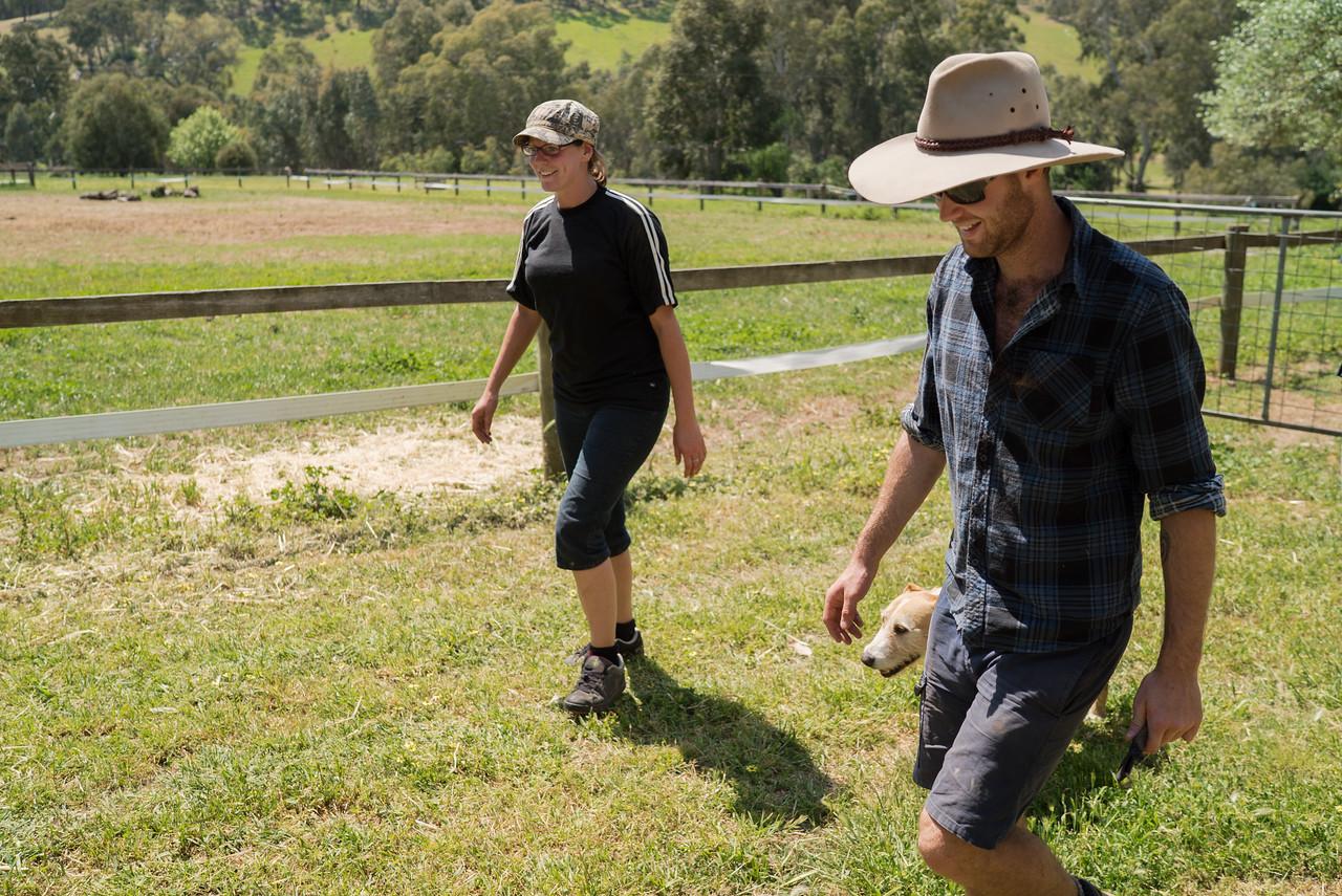 Australian Man and Woman on a Farm