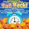 DAYLIGHT SAVINGS TIME - FALL BACK