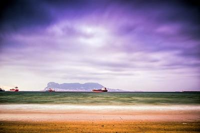 Gibraltar from El Riconcillo beach, Algeciras (Spain)
