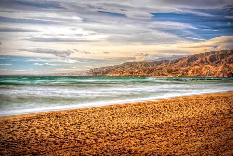 El Zapillo beach, Almería, Spain.