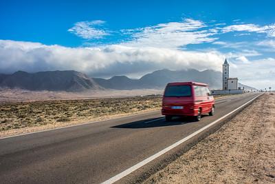 A van reaching La Almadraba de Monteleva, Cabo de Gata, Almeria, Spain