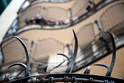Reja de la terraza, Casa Batlló, obra de Gaudí, paseo de Gracia, Barcelona