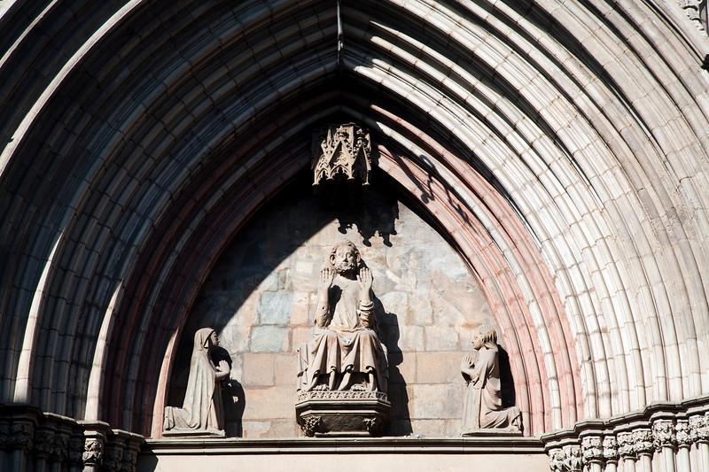 Architectonic detail from Santa Maria del Mar church, town of Barcelona, autonomous commnunity of Catalonia, northeastern Spain