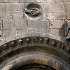 Detail from Sant Pau del Camp monastery, town of Barcelona, autonomous commnunity of Catalonia, northeastern Spain