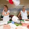 Fishmongers, Boqueria market, town of Barcelona, autonomous commnunity of Catalonia, northeastern Spain