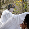 Street performer at Las Ramblas, town of Barcelona, autonomous commnunity of Catalonia, northeastern Spain