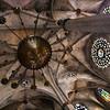 Low angle view of the interior of Santa Maria del Mar church, town of Barcelona, autonomous commnunity of Catalonia, northeastern Spain