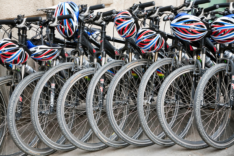 Bikes, town of Barcelona, autonomous commnunity of Catalonia, northeastern Spain