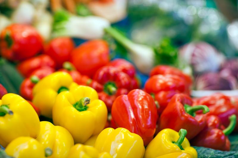 Peppers, Boqueria market, town of Barcelona, autonomous commnunity of Catalonia, northeastern Spain
