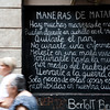 Bertold Brecht's poem on a wall, town of Barcelona, autonomous commnunity of Catalonia, northeastern Spain