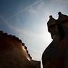 Chimeneas, Casa Batlló, obra de Gaudí, paseo de Gracia, Barcelona
