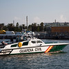 Guardia Civil launch, seaport of Barcelona, autonomous commnunity of Catalonia, northeastern Spain
