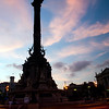 Columbus monument on the seaport, town of Barcelona, autonomous commnunity of Catalonia, northeastern Spain