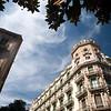 Edificios en el Carrer Gran de Gracia, barrio de Gracia, Barcelona