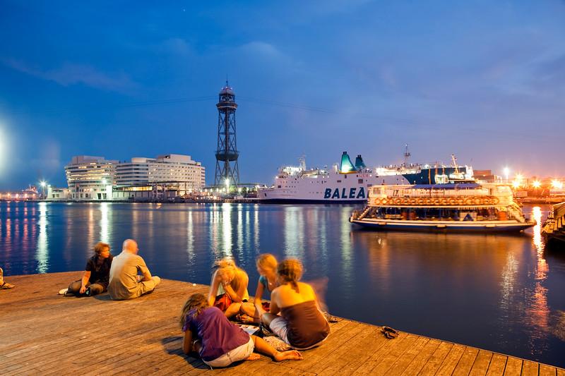 Seaport, town of Barcelona, autonomous commnunity of Catalonia, northeastern Spain