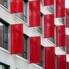 Modern building, town of Barcelona, autonomous commnunity of Catalonia, northeastern Spain